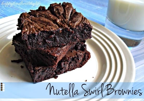 Nutella Swirl Brownies - moist, rich, decadent, and swirled with Nutella!