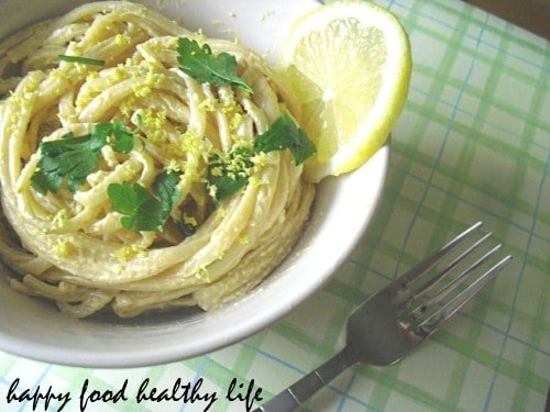 Lemony Primo Pasta... Perfectly light and fresh for the summer months! // Happy Food Healthy Life