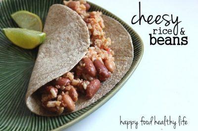 Cheesy Rice & Beans