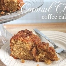 Coconut Chai Coffee Cake