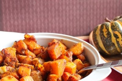 Thanksgiving Side Dish: Roasted Butternut Squash & Apple