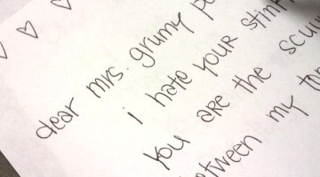 Dear Mrs grumpy pants - Writing a letter to your bad mood self.