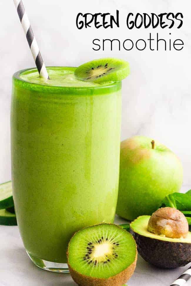 Green Goddess Smoothie - a simple green smoothie that packs a punch of flavor and nutrients