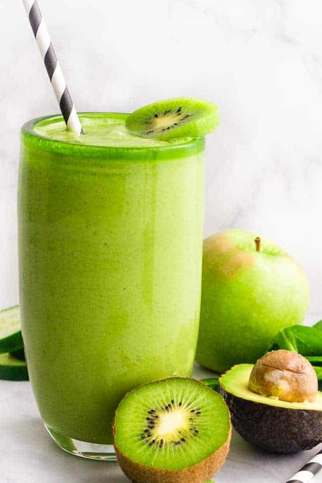 GREEN GODDESS SMOOTHIE - VEGAN SIMPLE GREEN SMOOTHIE