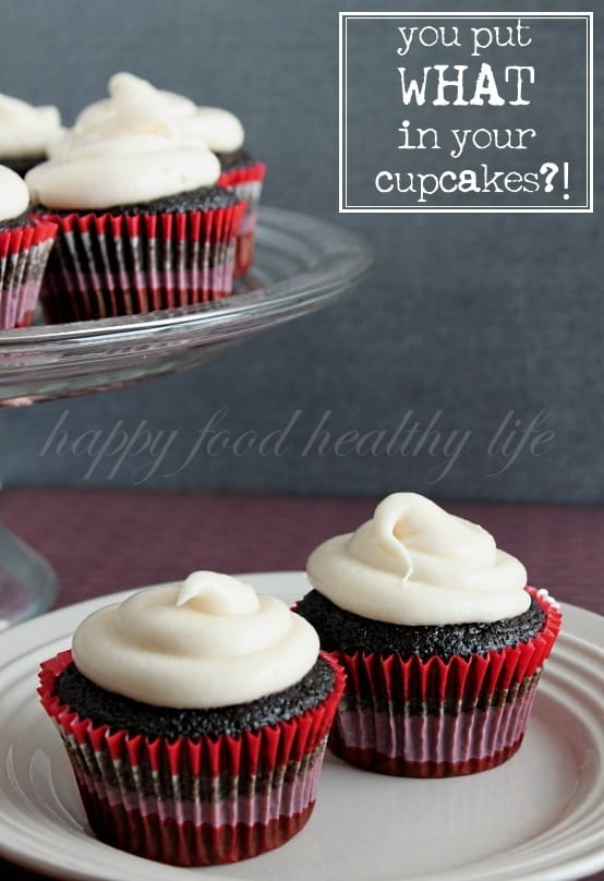 Chocolate Beet Cupcakes - You Put WHAT in your Chocolate Cupcakes?? Check out how this mama sneaks veggies into her kiddos // Happy Food Healthy Life