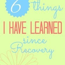 6 things i have learned since recovery // Happy Food Healthy Life