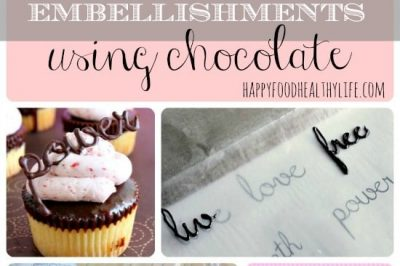 How to Create Cupcake Embellishments Using Chocolate