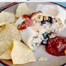 Southwestern Crunchy Burrito // Happy Food Healthy Life