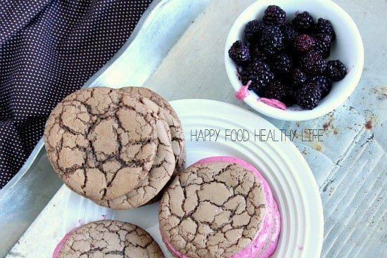 Blackberry Chocolate Sandwich Cookies