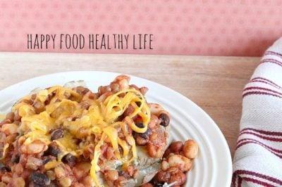 Lentil Chili Baked Potato {Vegetarian}