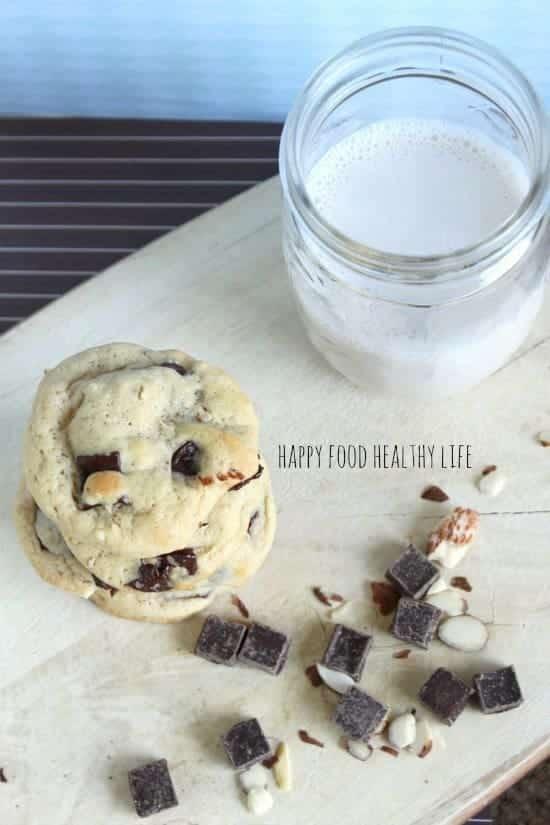 Dark Chocolate Almond Cookies