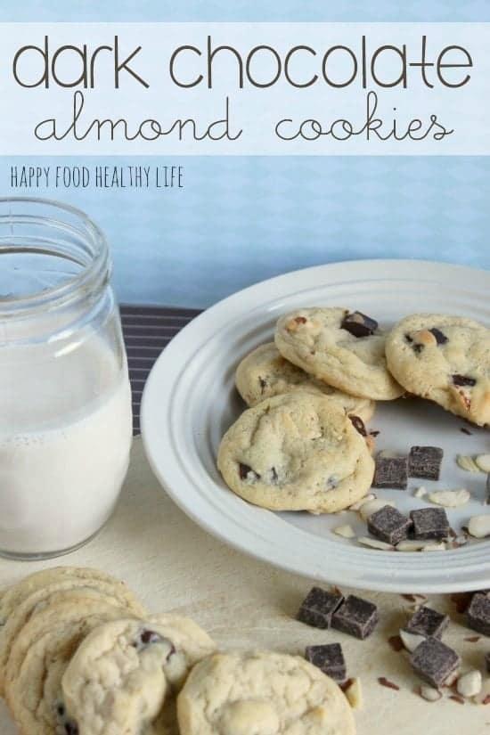Perfect Dark Chocolate Almond Cookies // Happy Food Healthy Life
