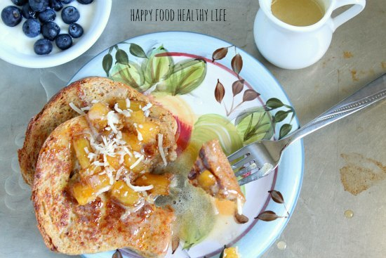 Pineapple Coconut French Toast // Happy Food Healthy Life