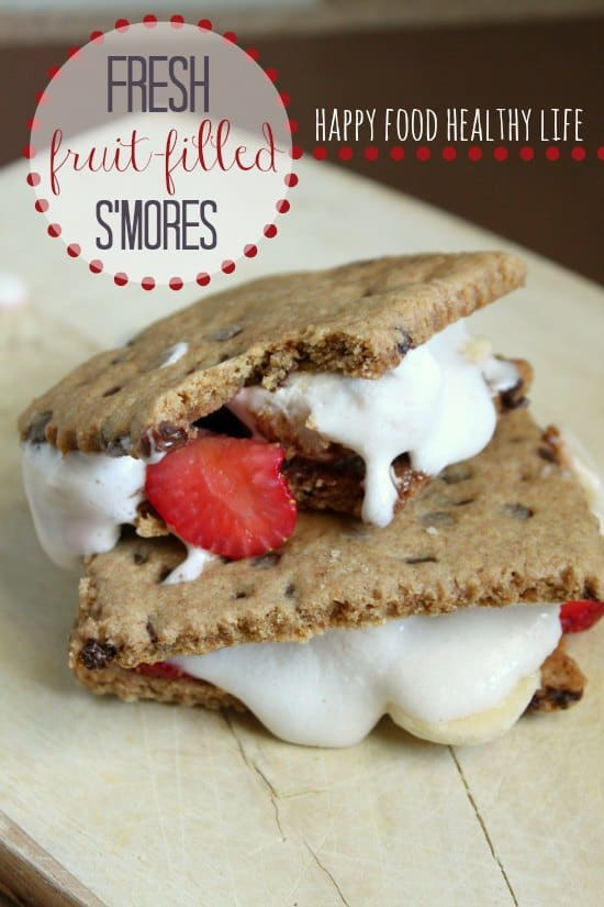Fresh Fruit-Filled S'mores