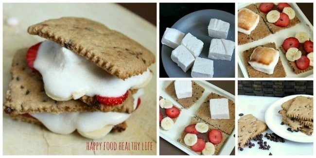 Fresh Fruit-Filled S'mores // Happy Food Healthy Life