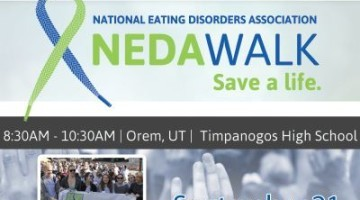 National Eating Disorder Association (NEDA) Walk 2013 ... Help us to raise awareness and Save a Life // Happy Food Healthy Life