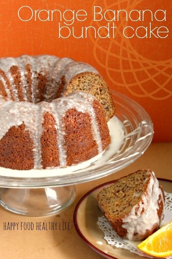Orange Banana Bundt Cake