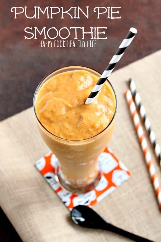 Pumpkin Pie Smoothie. Tastes exactly like pumpkin pie!! // Happy Food Healthy Life