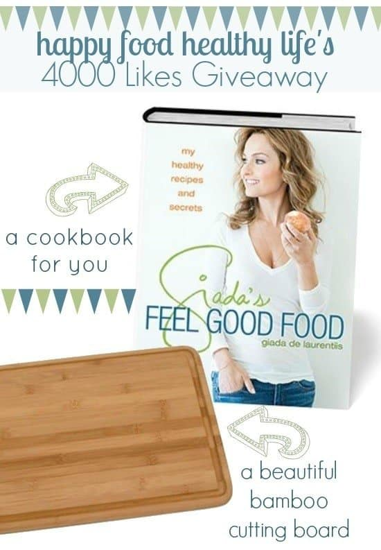 Giada de Laurentiis Feel Good Food Cookbook Giveaway - runs from 11/19/13 to 11/26/13