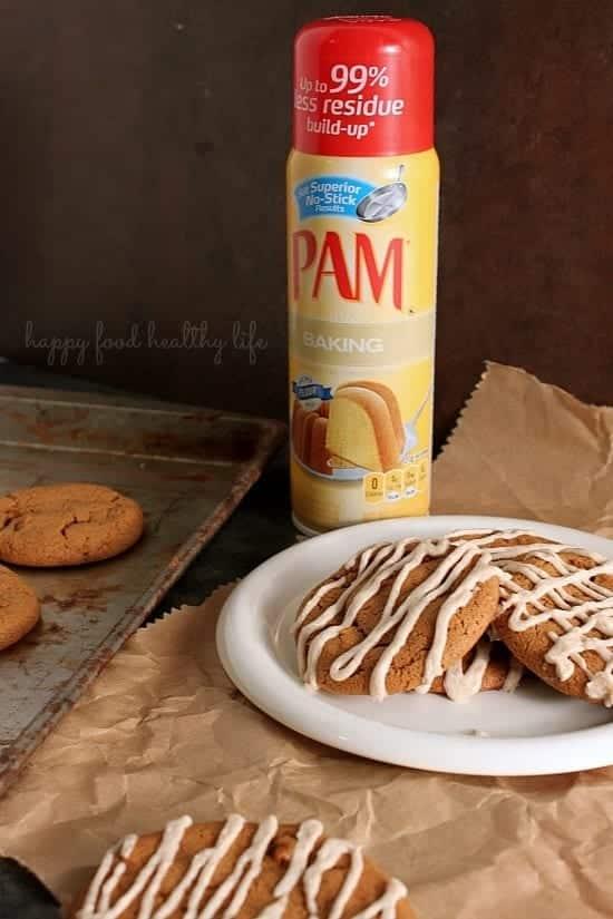 Molasses Cinnamon Chip Cookies ith Cinnamon Drizzle.