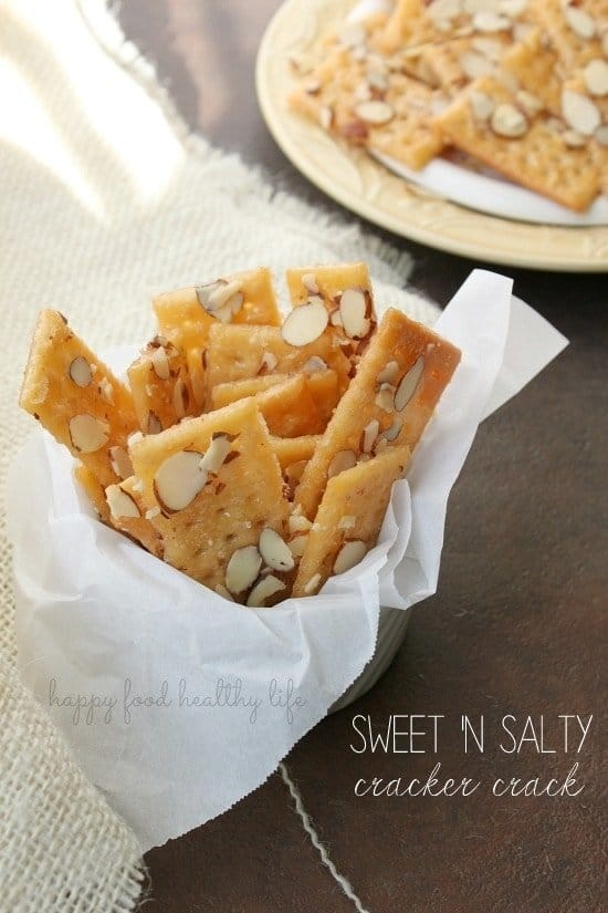Sweet 'n Salty Cracker Crack. A perfect super fast appetizer for a last minute party or get-together. So addicting, you won't be able to stop at just one handful!