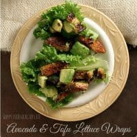 Avocado and Tofu Lettuce Wraps - An amazing feel-good meal using REAL food!