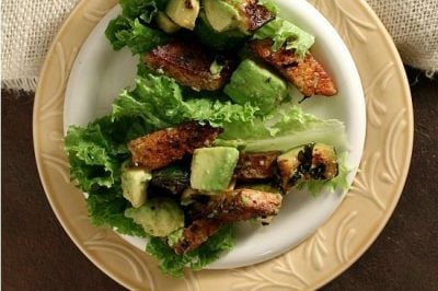 Avocado & Tofu Lettuce Wraps