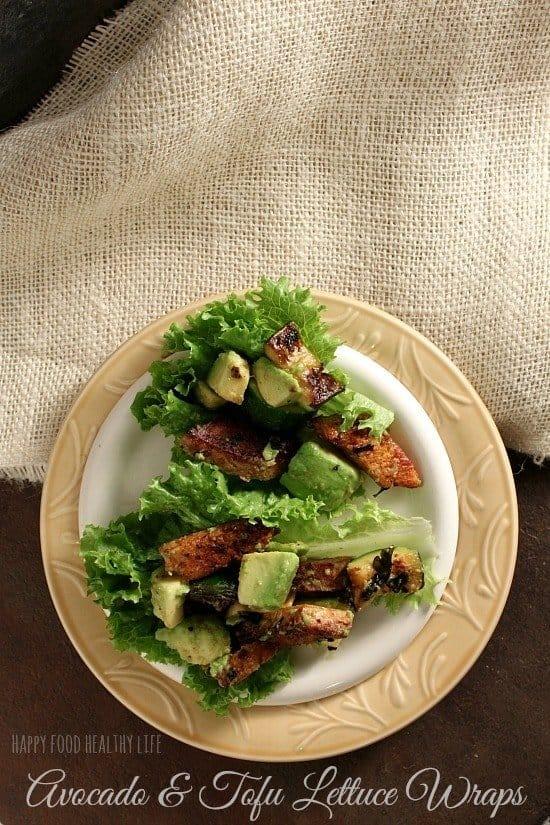 Avocado and Tofu Lettuce Wraps