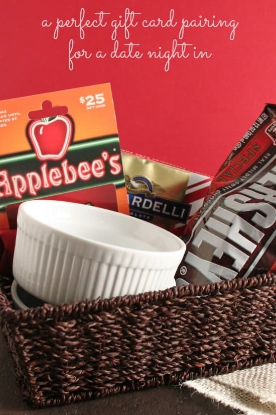 A Perfect Pairing for a Date Night In: A Restaurant Gift Card for Take Out and the Ingredients for your favorite dessert for two. www.happyfoodhealthylife.com