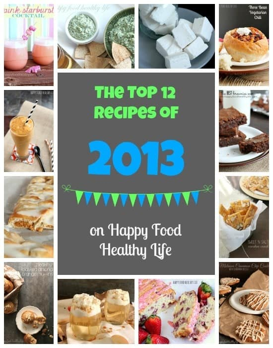 The Top 12 Recipes of 2013 - on www.HappyFoodHealthyLife.com