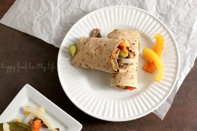 Chipotle Roasted Veggie Wraps