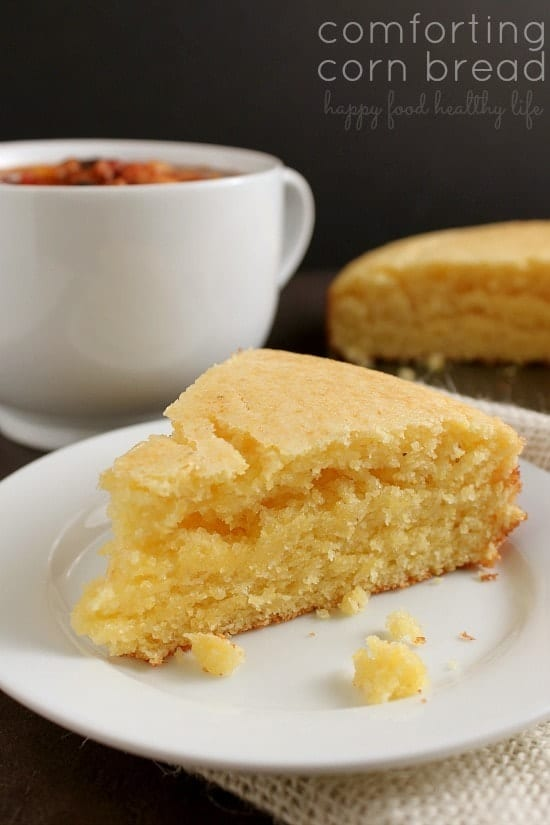 Comforting Corn Bread. There's just something about Corn Bread that warms from the inside out. www.happyfoodhealthylife.com