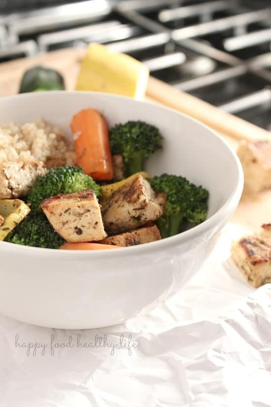 Marinated Tofu and Vegetable Bowl - Seriously one of the best things I've ever eaten! www.happyfoodhealthylife.com