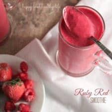 Ruby Red Smoothie . www.happyfoodhealthylife.com