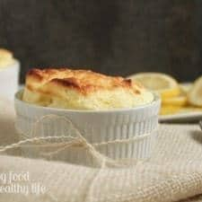 Fluffy Lemon Souffle www.happyfoodhealthylife.com