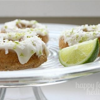 Coconut Lime Doughtnuts - the perfect reminder that warm weather is soon on its way! www.happyfoodhealthylife.com