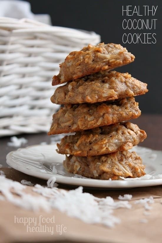 Healthy Coconut Cookies www.happyfoodhealthylife.com