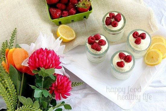 Learn how to make this super easy dessert in just minutes. This No-Bake Lemon Berry Cheesecake Mousse Parfait will wow all your guests! www.happyfoodhealthylife.com #dessert #lemon #easyrecipe