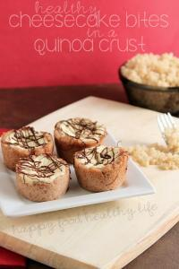Healthy Cheesecake Bites with a Quinoa Crust