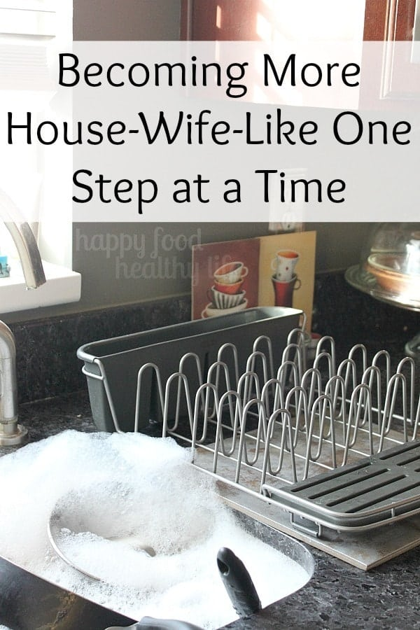 Becoming More House-Wife-Like One Step at a Time - How one simple product can help you become more organized in the kitchen. www.happyfoodhealthylife.com