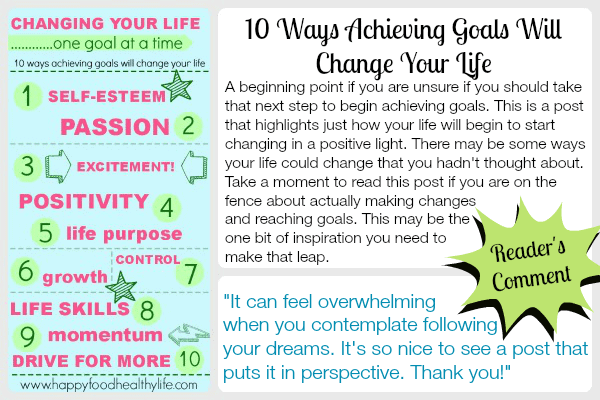 Top 10 Ways Achieving Goals Will Change Your Life www.happyfoodhealthylife.com