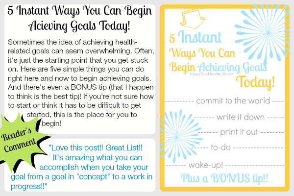 5 Ways You Can Begin Achieving Goals Today www.happyfoodhealthylife.com
