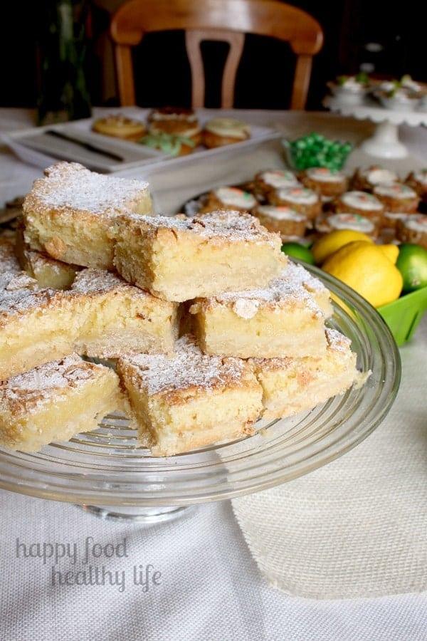 Lemon Bars - Springtime Dessert Bar - www.happyfoodhealthylife.com #dessert