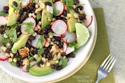 Grilled Black Bean & Corn Salad