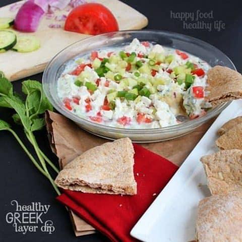 Healthy Greek Layer Dip