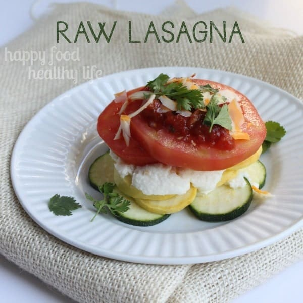 Raw Lasagna - a super easy, super fresh, raw version of your favorite pasta dish www.happyfoodhealthylife.com