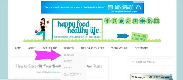 How to Save All Your Healthy Recipes in One Spot. Forget recipe binders, index cards, and cluttered Pinterest boards. www.happyfoodhealthylife.com