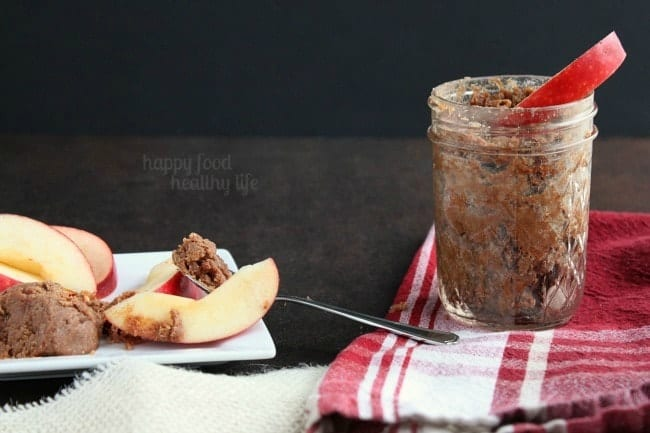 Cinnamon Honey Almond Fruit Spread - The perfect spread for your apples - an amped-up version of your classic Almond Butter www.happyfoodhealthylife.com