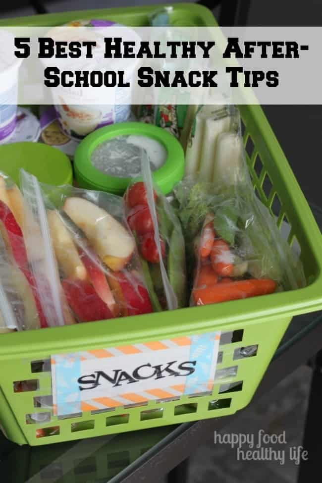 5 Best Healthy After-School Snack Tips | www.happyfoodhealthylife.com