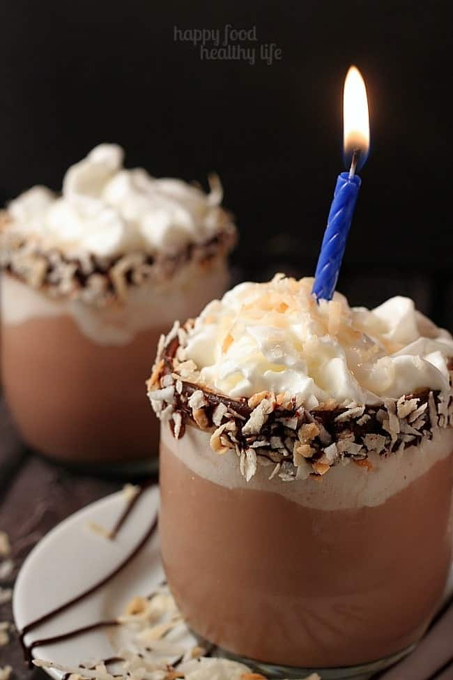 I'd pick this German Chocolate Cake Cocktail over a slice of cake any day! A wonderful way to celebrate a birthday, the weekend, or just any old night!